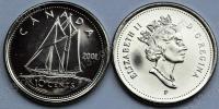 Канада. 10 центов. 2001. Парусник. UNC