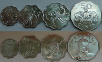 Свазиленд. Набор. 4 монеты. Животные. UNC