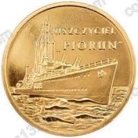 """Польша. 2012. 2 злотых. #242. Эсминец """"Перун"""" [корабли]"""