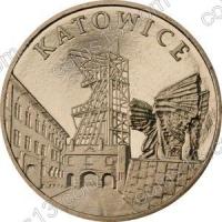 Польша. 2010. 2 злотых. #206. Катовице [города Польши]