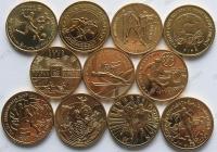 """Польша. Набор """"Спорт"""". 2002-2014. 11 монет. UNC"""