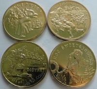 """Польша. Набор """"Традиции"""". 4 монеты. UNC"""