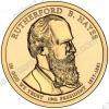 США. 1 доллар. Президенты. №19. 2011. Rutherford B. Hayes / Ратерфорд Хейз. P. UNC