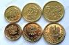 Польша. 2014. 1,2,5 грошей. Набор 3 монеты. Новый тип. Royal Mint. UNC