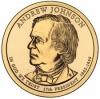 США. 1 доллар. Президенты. №17. 2011. Andrew Johnson / Эндрю Джонсон. D. UNC