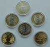 Капсулы для монет. Диаметр 27 мм [биметалл Россия, 2зл. Польша, Сочи]. Упаковка 100 штук