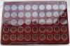Планшет PO45 с 45 капсулами под монеты ГВС (диаметр капсул 22,2 мм, внеш. диам. 29 мм)