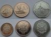 Гайана. Набор. 3 монеты. 1,5,10 долларов. UNC