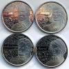 """Канада. Набор """"Герои войны 1812 года"""". 2012-2013. 25 центов. 4 монеты. UNC"""