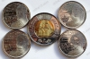 """Канада. Набор """"Герои войны 1812 года"""". 2012-2013. 5 монет (4*25 центов + 1*2 доллара). UNC"""