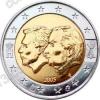 Бельгия. 2005. 2 евро. Экономический союз Бельгии и Люксембурга. Биметалл. Из ролла. UNC