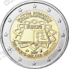Бельгия. 2007. 2 евро. Римский договор. Биметалл. Из ролла. UNC
