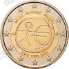Бельгия. 2009. 2 евро. 10 лет Экономическому и валютному союзу. Биметалл. Из ролла. UNC