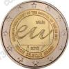 Бельгия. 2010. 2 евро. Председательство Бельгии в Евросоюзе. Биметалл. Из ролла. UNC