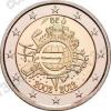 Бельгия. 2012. 2 евро. 10 лет наличному обращению евро. Биметалл. Из ролла. UNC