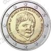 Бельгия. 2016. 2 евро. 20-летие европейского центра Child Focus. Биметалл. Из ролла. UNC