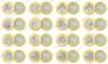 Бразилия. 2015. 1 реал. Олимпиада в Рио-де-Жанейро 2016. Полный набор. 16 монет. Спорт. Биметалл. UNC