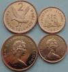 Фолклендские острова. 2 монеты. 1 и 2 пенни. 1998. Старый тип. Животные. UNC