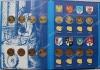 """Польша. Набор """"Исторические города Польши"""" в альбоме Fisher. 2005-2008. 32 монеты. UNC"""