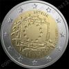 Латвия. 2015. 2 евро. 30 лет флагу Европейского союза. Биметалл. Из ролла. UNC