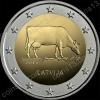 Латвия. 2016. 2 евро. Латвийская бурая корова. Биметалл. Из ролла. UNC