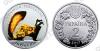 Украина. #386. 2017. 2 гривны. Перегузня (цветная) (животные) [Флора и фауна]