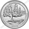 США. 25 центов(квотер). Парки. №43. 2018. Voyageurs National Park, Minnesota. D. UNC
