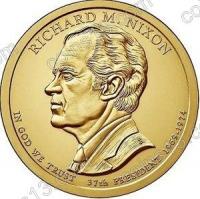 США. 1 доллар. Президенты. №37. 2016. Richard Nixon / Ричард Никсон. D. UNC