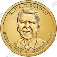 США. 1 доллар. Президенты. №40. 2016. Ronald Reagan / Рональд Рейган. D. UNC